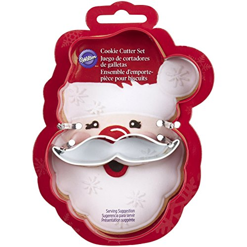 Metal Cookie Cutter Set 2/Pkg Santa Face