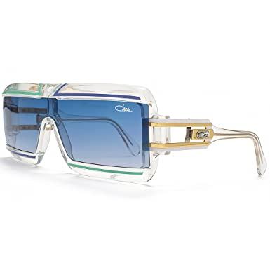 a5c9507ad4a Cazal 856 Vintage Visor Sunglasses in Clear Blue 856 246 62 62 Gradient  Blue  Amazon.co.uk  Clothing