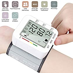 EASY TO USE- this Blood Pressure Cuff Monitor is fully automatic and reads your blood pressure with a click of a button once you have it on. No more fussing around complicated set ups.      CLINICALLY ACCURATE - the Blood Pressure Monitor uses adv...