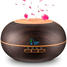 EXTENDED FAMILY 300ml Cool Mist Humidifier Ultrasonic Aroma Essential Oil Diffuser-Wood Grain