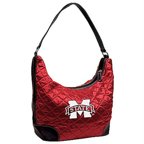 NCAA Mississippi State Bulldogs Maroon Quilted Hobo Purse