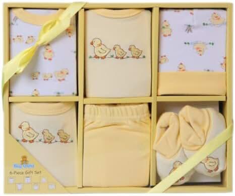 Big Oshi Baby Infants 6 Piece Layette Gift Set