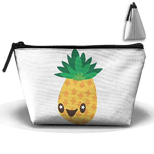 Trapezoidal Bag Makeup Bag Pineapple Cartoon Storage Portable Travel Wash Tote Zipper Wallet Handbag Carry Case]()