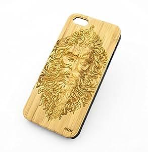 BAMBOO WOOD Case for APPLE IPHONE 5/5S, 5C - ZEUS GREEK MYTHOLOGY god thunder prometheus olympian