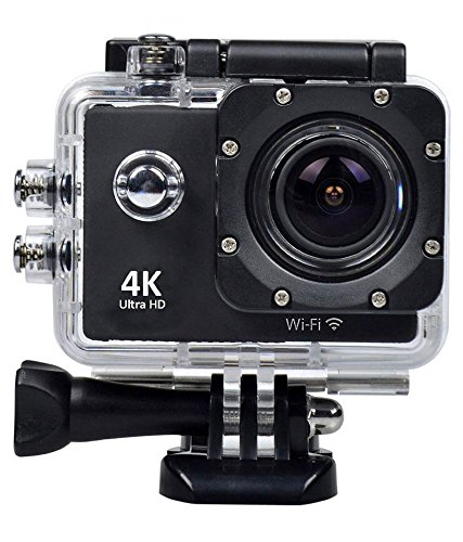 Amazon #LightningDeal 86% claimed: WiMiUS 4K Wifi Sports Action Camera Full HD 1080P 60fps 16MP 2.0 inch Waterproof Video Camera Car Helmet Camcorder with 2pcs Batteries(Q1) (Silver)