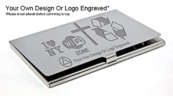 Personalised chrome business credit card holder your logo or personalised chrome business credit card holder your logo or design engraved reheart Images