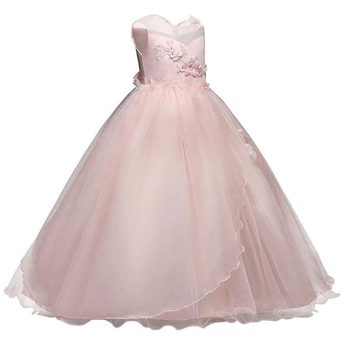 Amazon.com: Yuntown - Vestido de boda para niñas de 5 a 15 ...