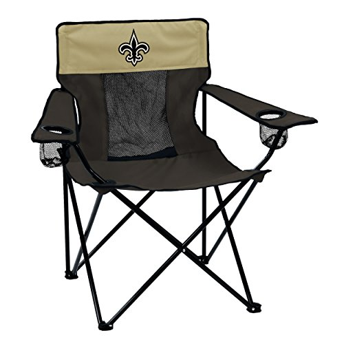 Logo Brands NFL New Orleans Saints Elite Chair Elite Chair, Charcoal, One Size