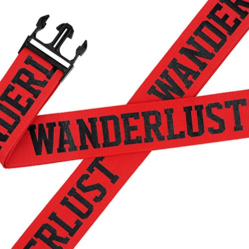 - Squad Goods Wanderlust Red Luggage Straps - Set of 2