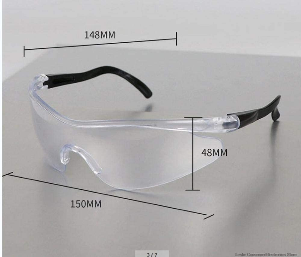 Gafas de seguridad para PC Protección para los ojos Gafas antipolvo y antichoque Ocular transparente Químico Gafas Proteccion-B