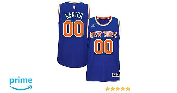 e2167b39c768 Amazon.com  adidas Enes Kanter New York Knicks NBA Youth Blue Road Replica  Jersey  Clothing
