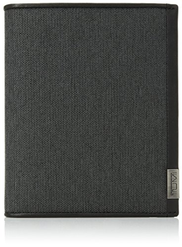 TUMI - Alpha Passport Case Wallet with RFID ID Lock for Men - Anthracite/Black