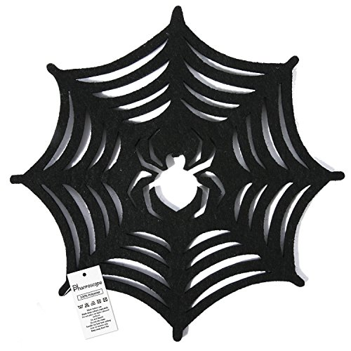Phantoscope Decorative New Halloween Placemats (Spider Web) Set of 4