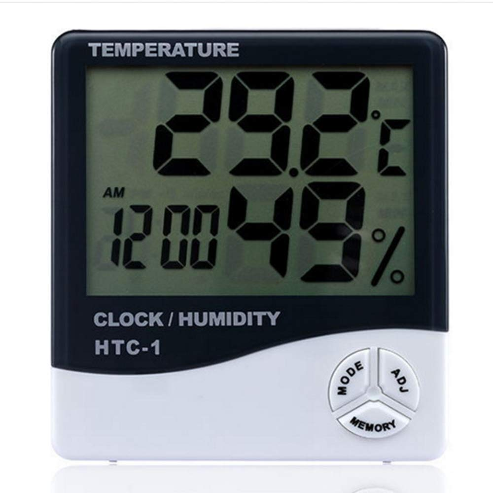 with Time Display Accurate Humidity Gauge with Jumbo Touchscreen and Backlight Temperature Humidity Monitor Konesky Digital Hygrometer Indoor Thermometer