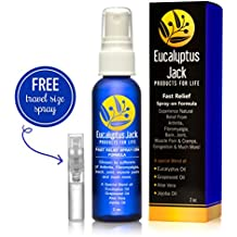 All Natural Pain Relief Spray | Essential Oils | Best for Joint Pain, Arthritis, Leg and Muscle Cramps, Headaches, Congestion, Fybromyalgia and Much More