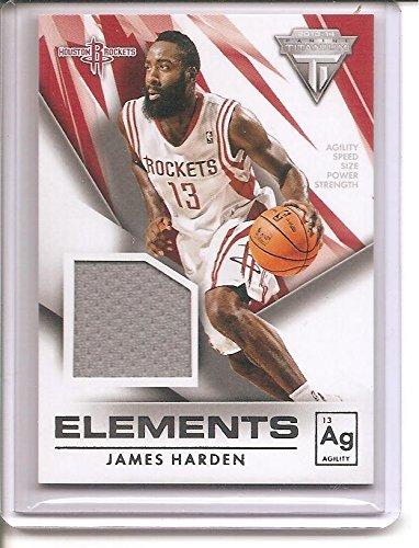 James Harden Houston Rockets 2013-14 Panini Titanium Elements Jersey Basketball Card #67