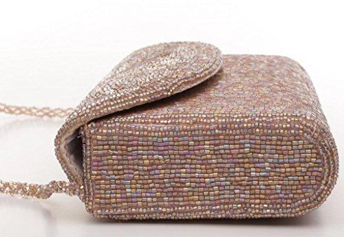 Josephine Osthoff Handtaschen-Manufaktur, Poschette giorno donna Beige multicolore one size