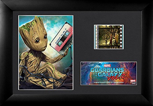 FilmCells Guardians of the Galaxy Vol 2 (Groot Mixtape) Minicell Desktop Presentation with 35mm film and easel stand