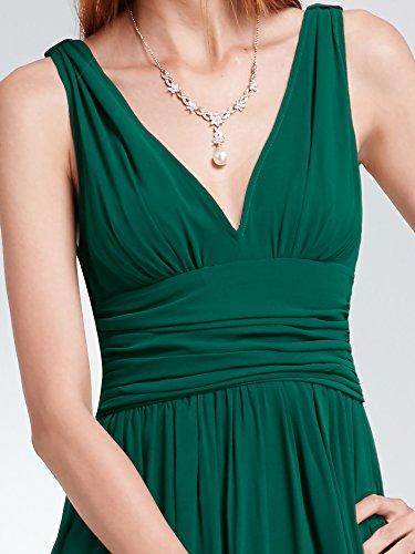 Verde sin Oscuro para Cuello Vestido en Pretty Largo y Noche Mujer sin Mangas 09016 de Ever Superior V Parte con Mangas xaHXwF1xRq