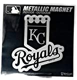 "Stockdale Kansas City Royals 6"" Metallic Magnet Silver Style Die Cut Auto Home Baseball"