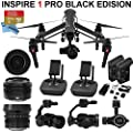 DJI Inspire 1 PRO Black Edition Bundle with Zemuse X5 4K Camera + 2 Controllers, 2 Batteries + Professional Case + 64GB Extreme MicroSD Card and more...