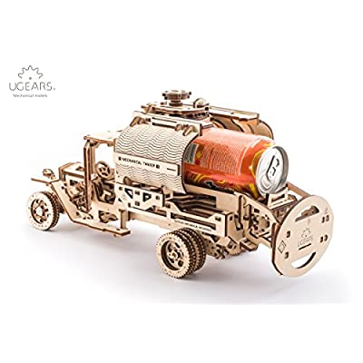 UGears Truck with Tanker mechanical wooden model KIT 3D puzzle Assembly: Toys & Games
