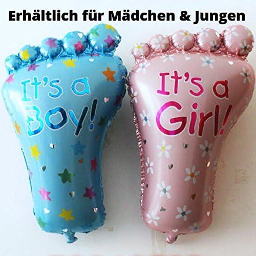Kein Helium Ballon Folienballon Fuß Baby Shower Fuss Mädchen Geburt Party