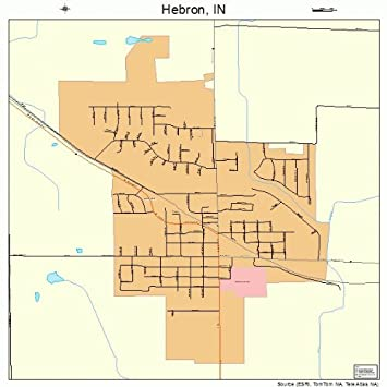 Hebron Indiana Map.Amazon Com Large Street Road Map Of Hebron Indiana In Printed