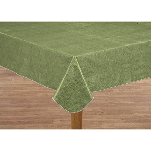 Miles Kimball Illusion Weave Vinyl Table Cover HSK 60″ x 120″ Oblong