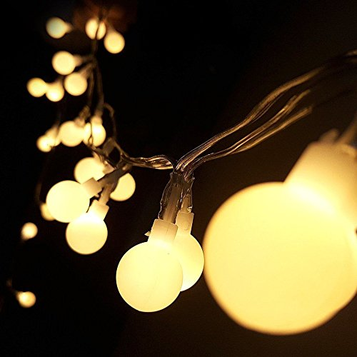 Translucent Glow Balls Fairy Lights I 13Ft Opaque Globe Led String Lights I Battery Powered Christmas Lights I Outdoor Decorative Rope Lights