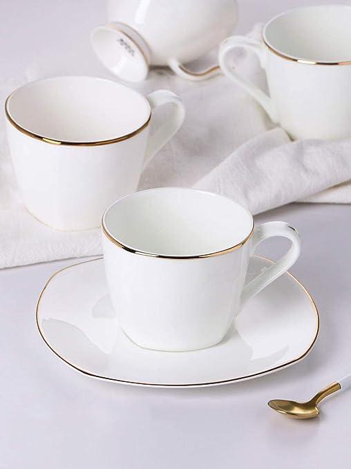 WuDee Tazas y platillos para café Espresso,Juego de Taza y Plato ...