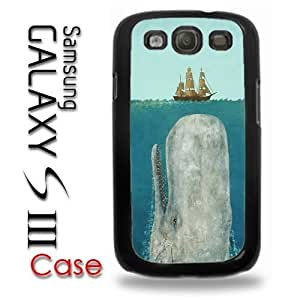 Samsung Galaxy S3 Plastic Case - Moby Dick Whale coming up to sail boat