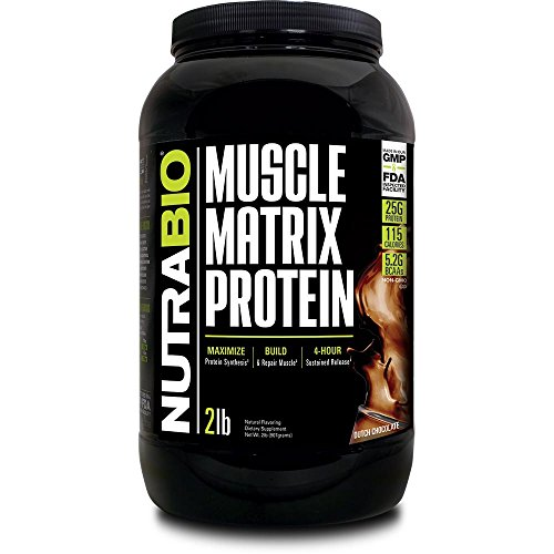 - NutraBio Muscle Matrix - Whey Protein Blend (Chocolate, 2 Pounds)