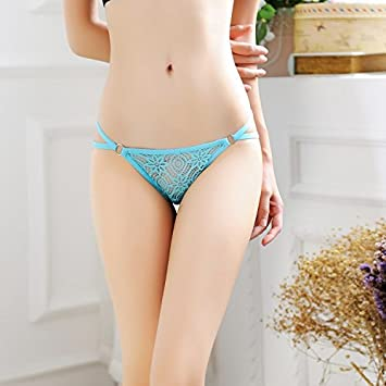 6307c62f17 LOVEN Women Knickers Lace Massage Thon G String Underwear Ladies Sexysexy  Transparent Slide Exposed Iron Rings