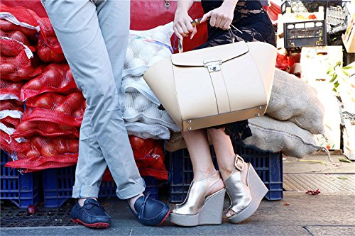 Made in Italia - CLOTILDE-P Sandalias De Vestir De La Cuña Para Mujer Altura De La Cuña 12.5 cm, Plataforma 3.5 cm