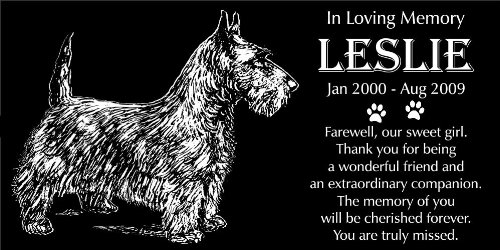 (Lazzari Collections Personalized Scottish Terrier Pet Memorial 12