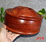 Handmade mahogany wood ashtray candy box with cover