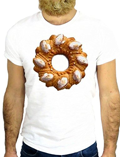 T SHIRT JODE Z1766 BISCUIT ITALY BREACKFAST ENJOY FUNNY COOL FASHION NICE GGG24 BIANCA - WHITE M