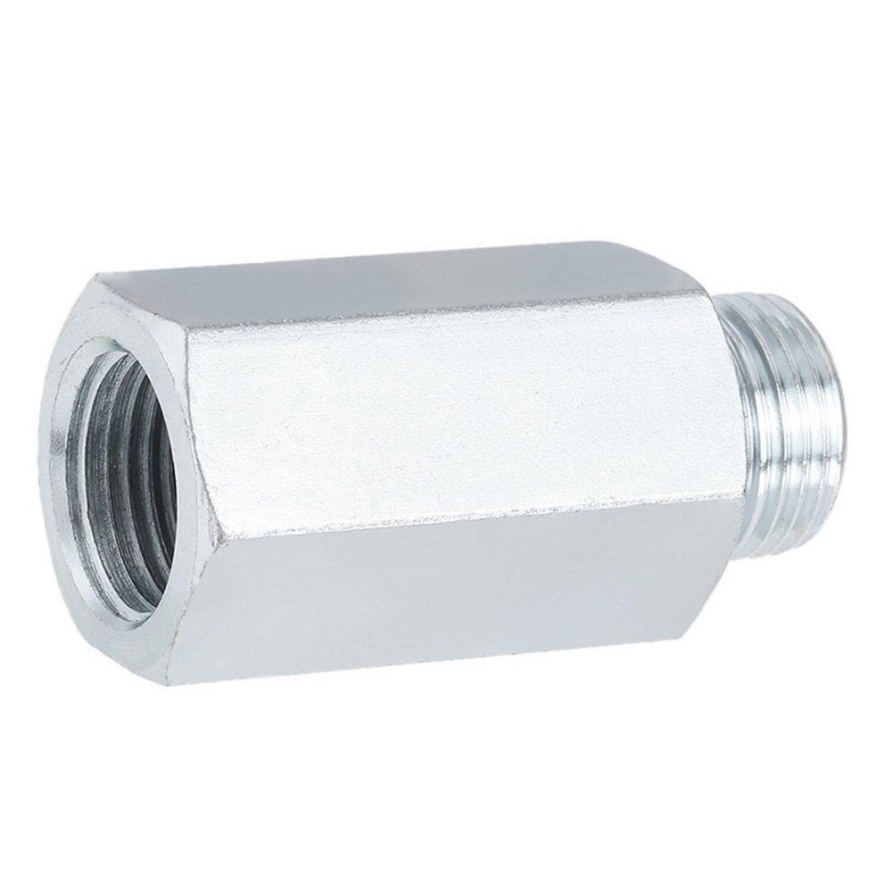 SODIAL M18 x1.5 Lambda Extensor de extension de sensor de oxigeno O2 escape espaciador Plata