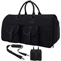 Geisofu Carry-on Garment Bag Large Travel Duffel Suit Bag with Shoes Pouch for Men Women