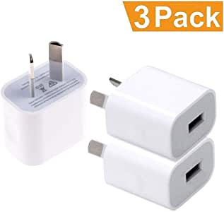 USB Wall Charger, RKINC 1A/5V Universal Portable Travel Adapter High Speed 1.0A Output for iPhone, iPad, Samsung, (RKINC)