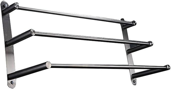 Porte-serviettes en acier inoxydable 304 Double tige Porte-serviettes bross/é /élargi Tenture murale /épaissie Porte-serviettes Quincaillerie de salle de bain-Double tige 80cm bross/é