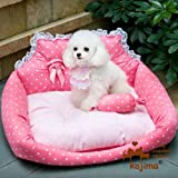 Princess Sofa Dog Bed with Pet Bed Mat Plus Cute Pillow, Medium 20-Inch by 24-Inch (Princess Pink)