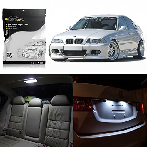 Wagon E46 (Partsam 1999-2005 BMW E46 Sedan Wagon Coupe White Interior LED Light Package Kit (16 Pieces))