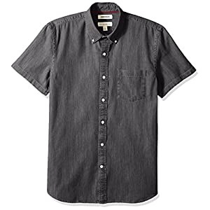 Amazon Brand – Goodthreads Men's Standard-Fit Short-Sleeve Denim Shirt