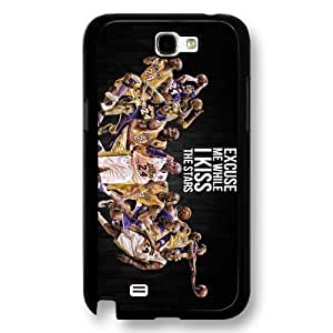Onelee(TM) - Customized Black Hard Plastic Samsung Galaxy Note 2 Case, NBA Superstar Lakers Kobe Bryant Samsung Galaxy Note 2 Case