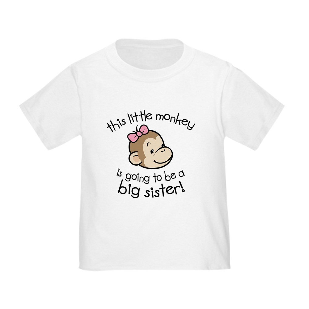 CafePress - Big Sister To Be - Monkey Face T-Shirt - Cute Toddler T-Shirt, 100% Cotton