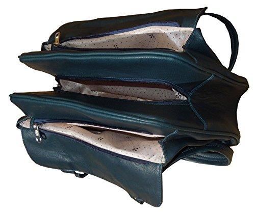 Spice Art - Bolso de asas de cuero sintético para hombre azul