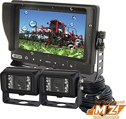 Veise 7″ Digital Rear View Back up Reverse Cctv Security Camera System, Waterproof Monitor+2 Cam for Tractor Outdoor Use, Bus, Van,boat, Yacht