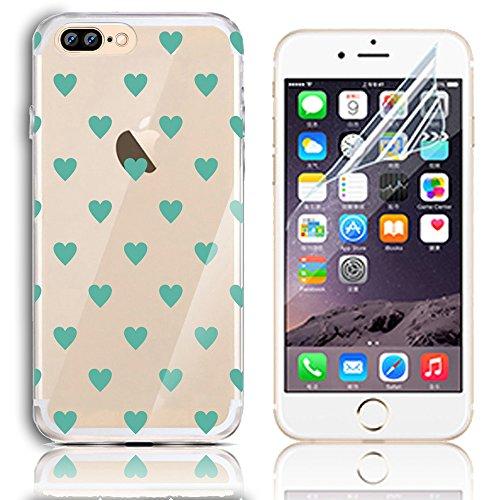 Sunroyal Case para iPhone 7 Plus TPU Transparente Funda Cubierta de Silicona Ultra delgado Impresión de Estuche Silicona Carcasa Trasera Flexible Bumper Case Cover Caja del Teléfono para iPhone 7 Plus A-38